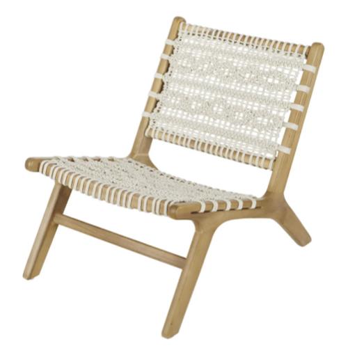 jardin exterieur tendance 2021 confort chaise basse tressée blanc cassé décoration
