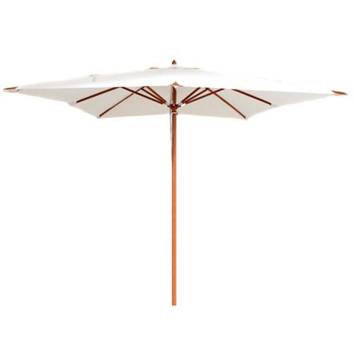 jardin tendance confort 2021 parasol structure bois toile beige écru claire simple grand format