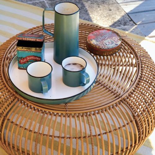 jardin tendance confort 2021 table basse rotin moderne