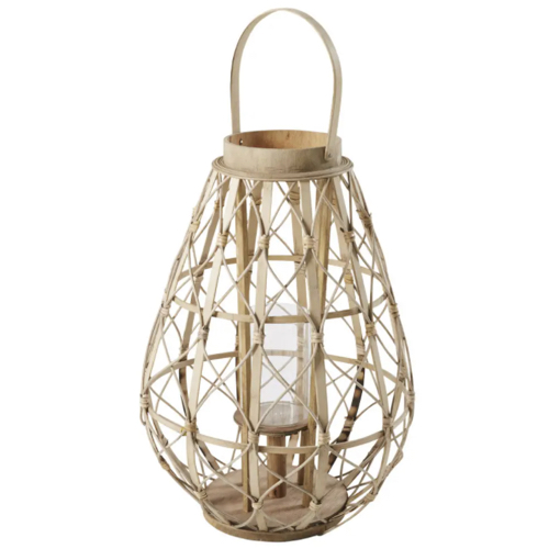 jardin terrasse accessoire decoration lanterne osier rotin