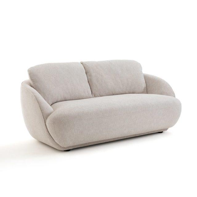 meuble deco minimaliste et chaleureux banquette moderne forme arrondie salon