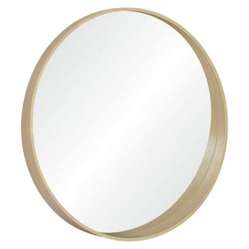 miroir rond tendance la redoute encadrement bois élégant minimaliste