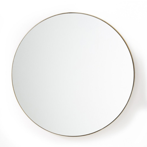 miroir rond tendance la redoute en laiton