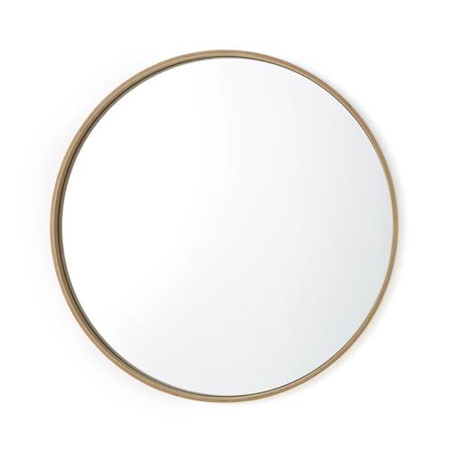 miroir rond tendance la redoute encadrement en chêne