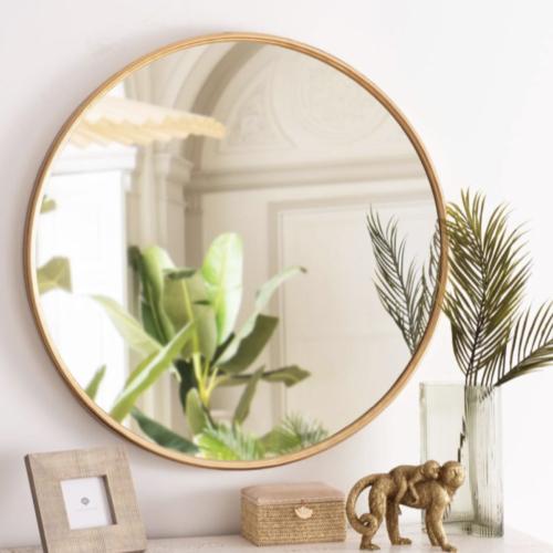 miroir rond tendance maisons du monde élégant naturel bois