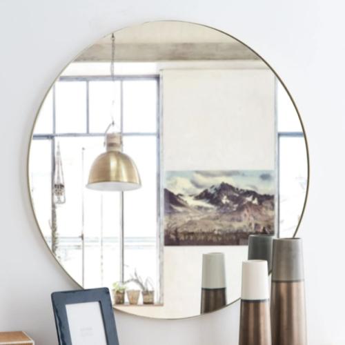 miroir rond tendance maisons du monde encadrement fin decoration