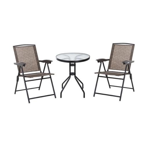 mobilier jardin pas cher fauteuil inclinable petite table ronde métal et verre