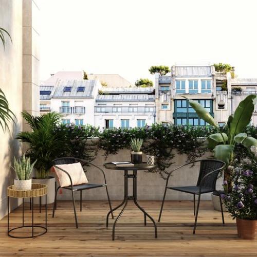 mobilier jardin pas cher moderne table et chaises noir simple