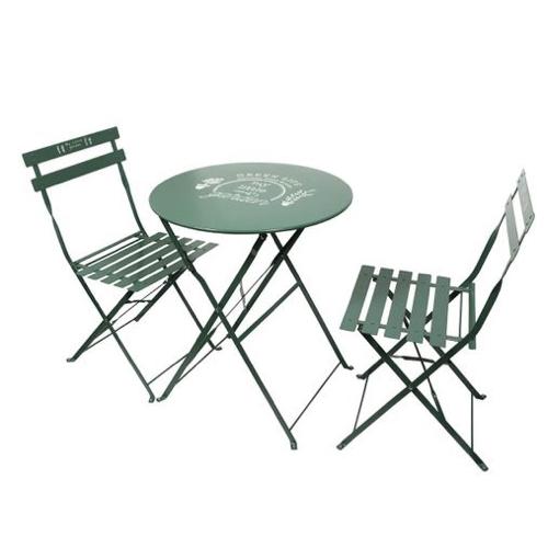 mobilier jardin pas cher salon extérieur peu encombrant vert