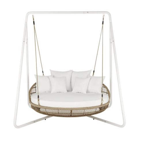mobilier jardin sieste confortable grand fauteuil suspendu rond