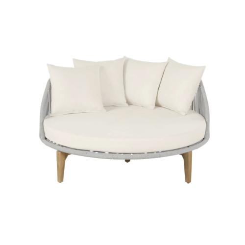 mobilier jardin sieste confortable daybed lit extérieur rond coussin