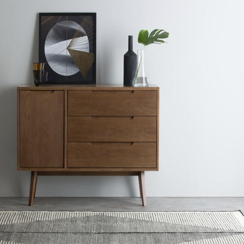 mobilier salle a manger style masculin petit bahut style vintage mid century modern