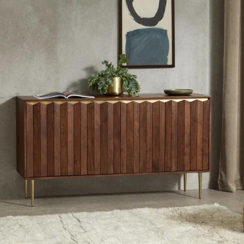 mobilier salle a manger style masculin buffet enfilade bois élégant