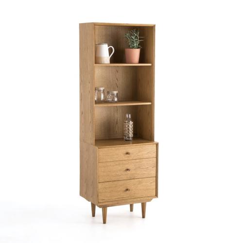ou trouver bibliotheque vintage mid century petit meuble bois clair vintage