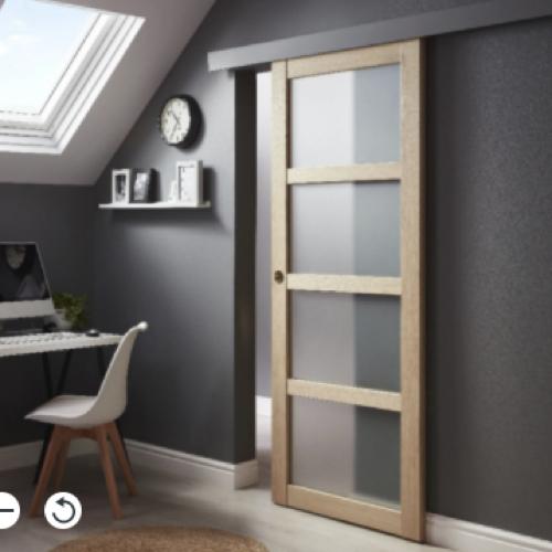 ou trouver porte vitree interieure pas cher bois 4 carreaux moderne coulissante