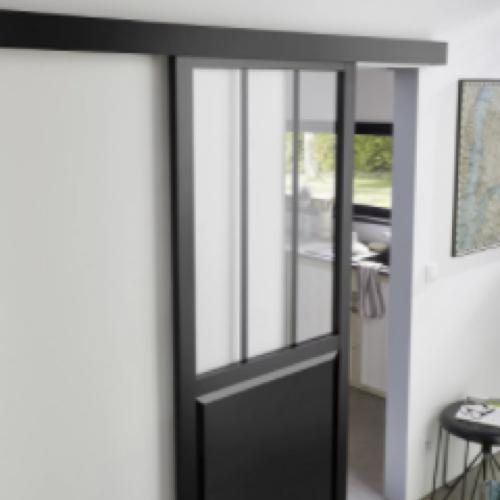 ou trouver porte vitree interieure pas cher coulissante style industriel