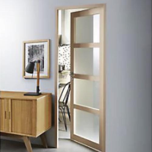 ou trouver porte vitree interieure pas cher battante bois vitre opaque x4