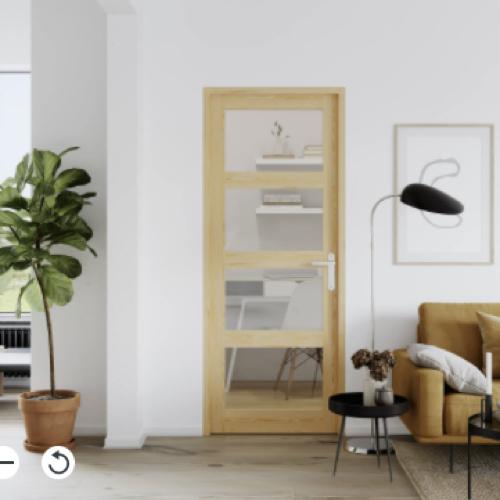 ou trouver porte vitree interieure pas cher simple moderne bois et verre