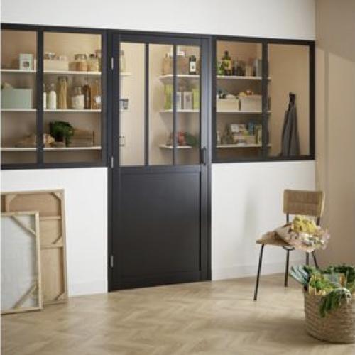 ou trouver porte vitree interieure pas cher porte style atelier industriel métal et verre