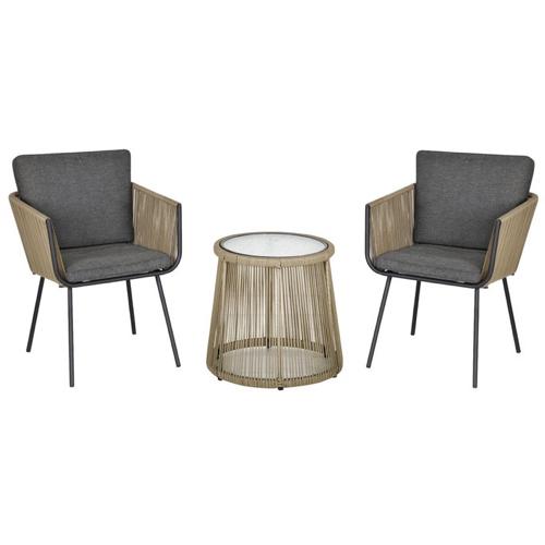 ou trouver salon exterieur pas cher tendance moderne naturel et gris fauteuil et table basse