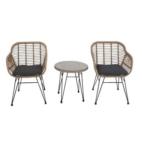 ou trouver salon jardin pas cher extérieur moderne rotin table basse fauteuil