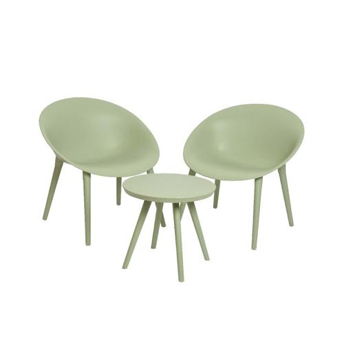 ou trouver salon jardin pas cher meuble plastique original vert