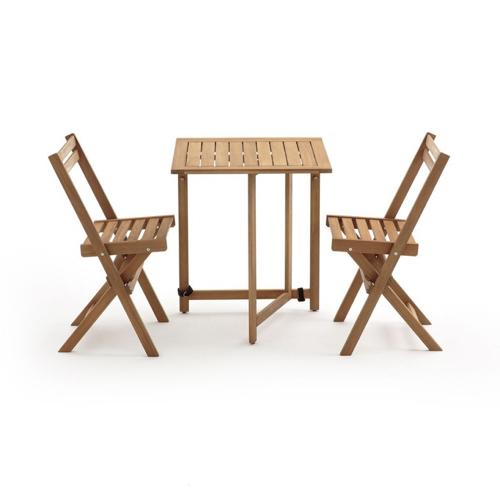 ou trouver salon jardin pas cher table pliante en bois avec chaises nature