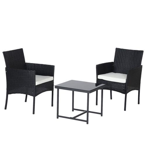ou trouver salon jardin pas cher résine noir table basse fauteuil