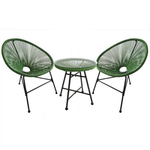ou trouver salon jardin petit budget salon Acapulco vert 2 fauteuils et table basse