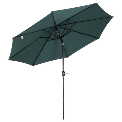 petit balcon detente nature parasol vert orientable