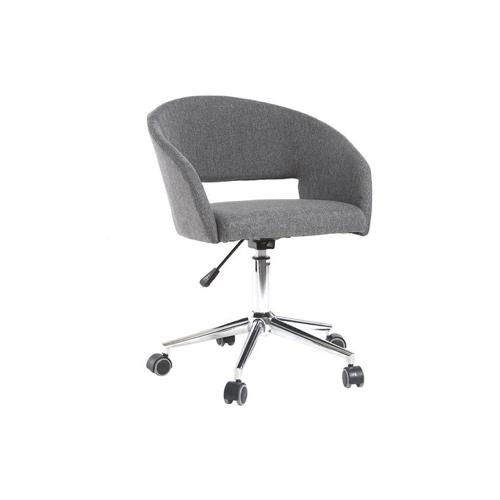 petit bureau amenagement chambre idee fauteuil discret à roulette tissus gris