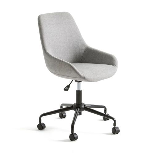 petit bureau amenagement chambre idee chaise fauteuil classique deco à roulette tissus gris