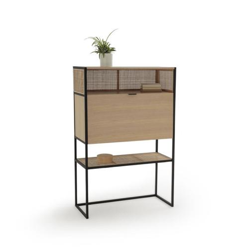 petit bureau amenagement chambre idee secretaire rangement pratique bois et métal