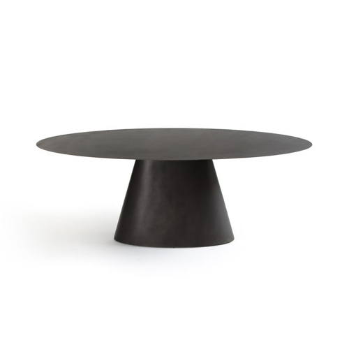 salle a manger masculine meuble deco table ronde noir élégante