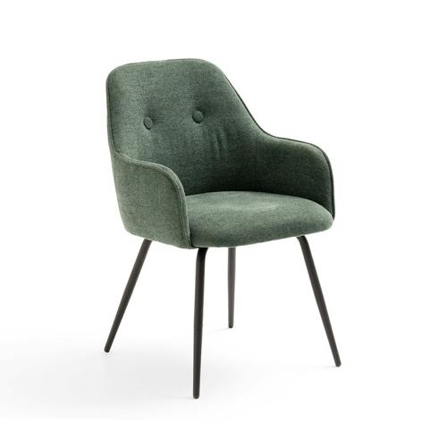 salle a manger masculine meuble deco fauteuil de table tissus vert