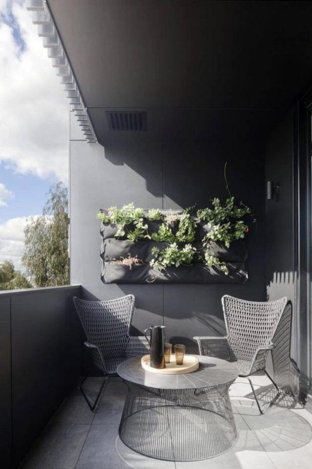 salon de jardin moderne exemple balcon meuble métal actuel