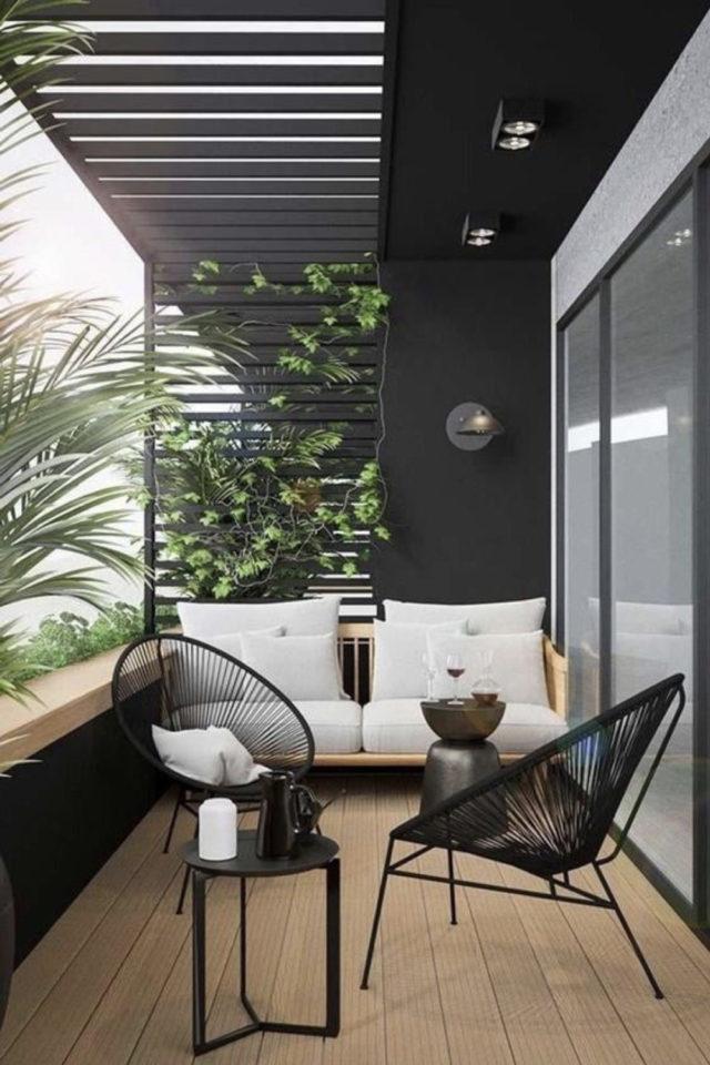 salon de jardin moderne exemple balcon chaise acapulco petit canapé extérieur