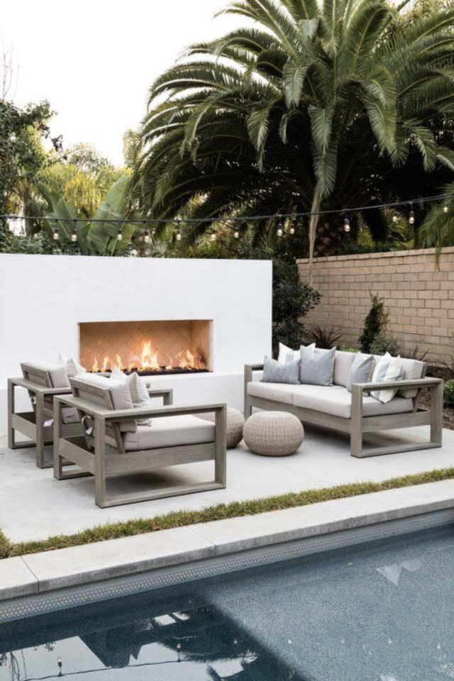salon de jardin moderne exemple piscine brasero luxe design