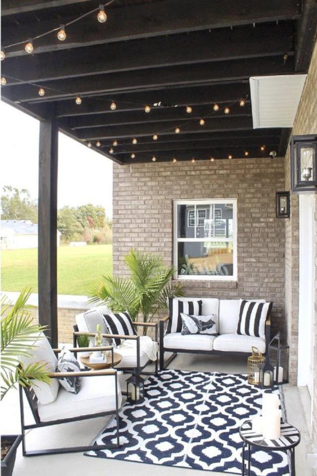 salon de jardin moderne exemple petit extérieur terrasse canapé fauteuil