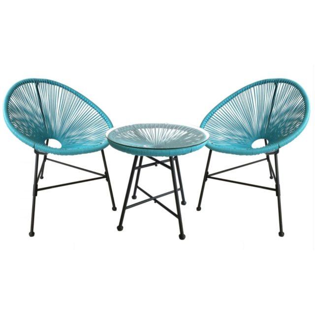 salon jardin promotions moderne style acapulco bleu