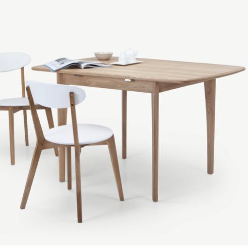 sejour salle a manger table moderne petite table évolutive bois