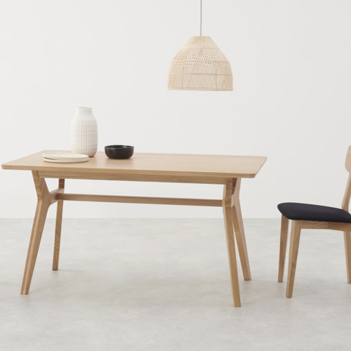 sejour salle a manger table moderne style scandinave bois