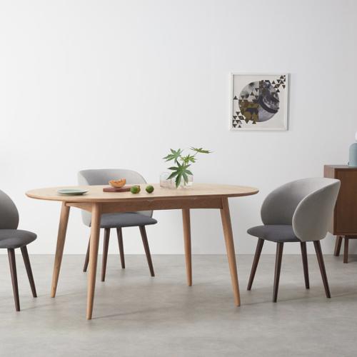 sejour salle a manger table moderne ronde à rallonge