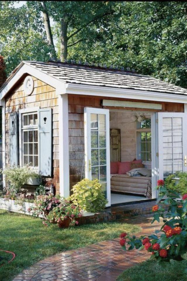 she shed jardin cest quoi concept aménagement chalet extérieur idée déco
