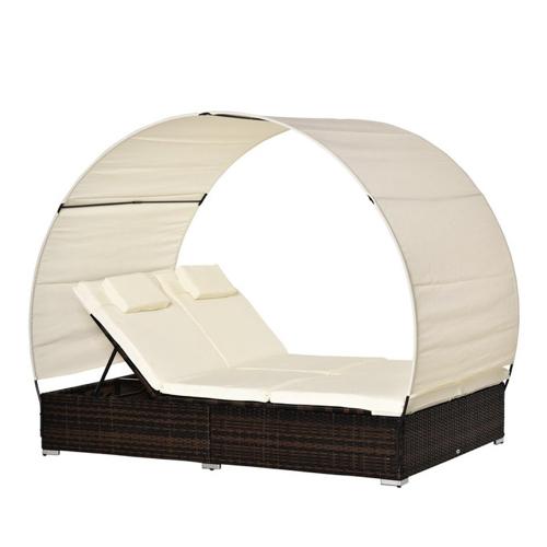 sieste jardin mobilier confortable lit de jardin avec toile protection soleil