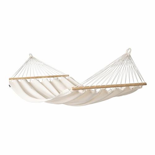 sieste jardin mobilier confortable toile de hamac à suspendre blanc écru