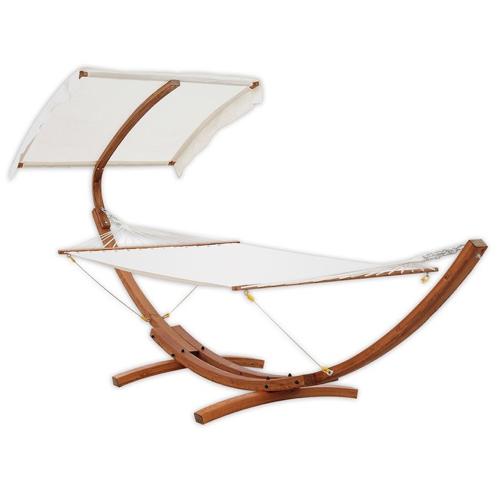 sieste jardin mobilier confortable grand hamac avec structure bois élégant