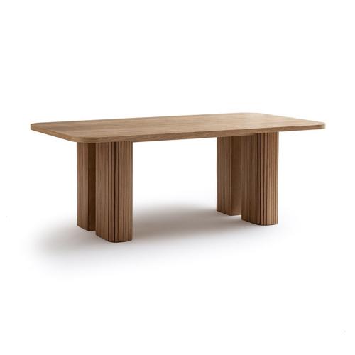 table salle a manger moderne tout en bois piètement travaillé grand modèle