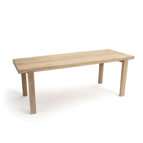 table salle a manger moderne grand modèle famille bois simple