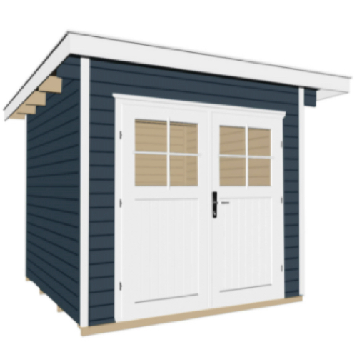 abri jardin a amenager cabane porte blanche bois peint